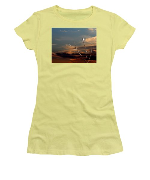 Women's T-Shirt (Junior Cut) featuring the photograph End Of The Day by John Freidenberg