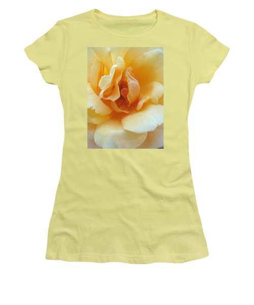 Lightness Of Being - Yellow Rose Macro -floral Art From The Garden Women's T-Shirt (Athletic Fit)