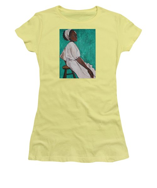 Ethiopian Woman In Green Women's T-Shirt (Junior Cut) by Esther Newman-Cohen