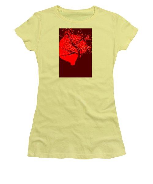 Evening Tree Women's T-Shirt (Athletic Fit)