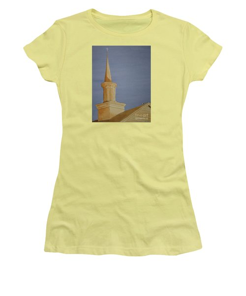 Women's T-Shirt (Junior Cut) featuring the painting Evening Worship by Stacy C Bottoms