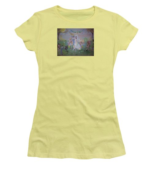 Fairy Wedding Women's T-Shirt (Junior Cut) by Judith Desrosiers