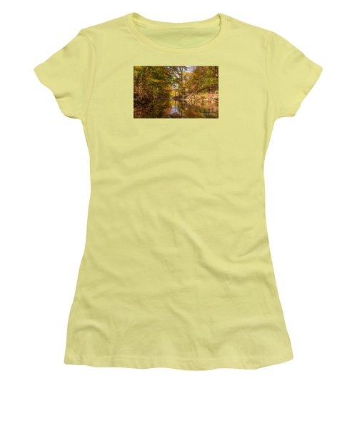 Women's T-Shirt (Junior Cut) featuring the photograph Fall At Valley Creek  by Rima Biswas