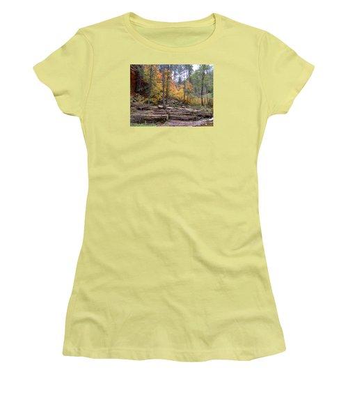 Fall Colors 6463-02 Women's T-Shirt (Junior Cut) by En-Chuen Soo