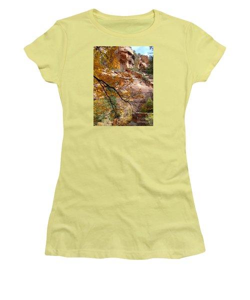 Fall Colors 6497 Women's T-Shirt (Junior Cut) by En-Chuen Soo