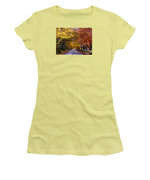 Fall Colors Near Sister Bay Women's T-Shirt (Athletic Fit)