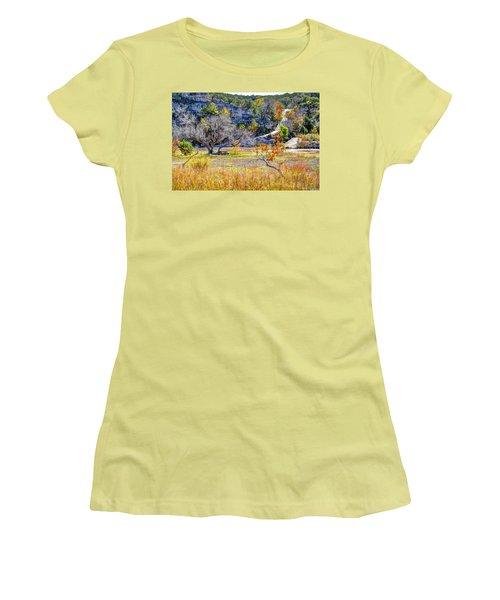 Fall In The Texas Hill Country Women's T-Shirt (Junior Cut) by Savannah Gibbs