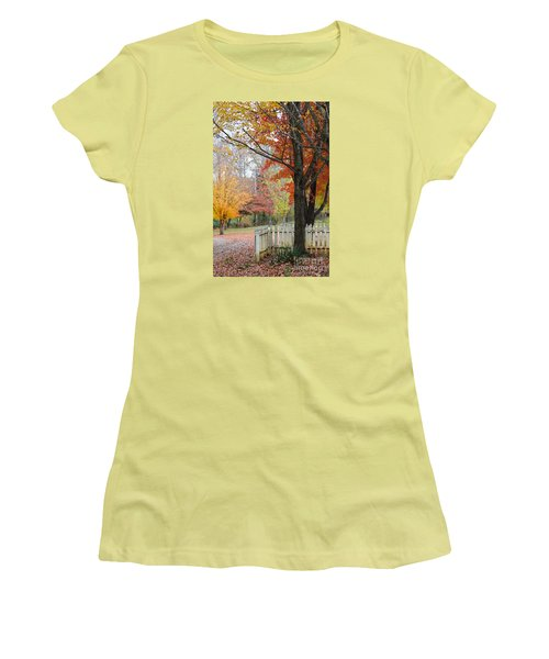 Fall Tranquility Women's T-Shirt (Athletic Fit)