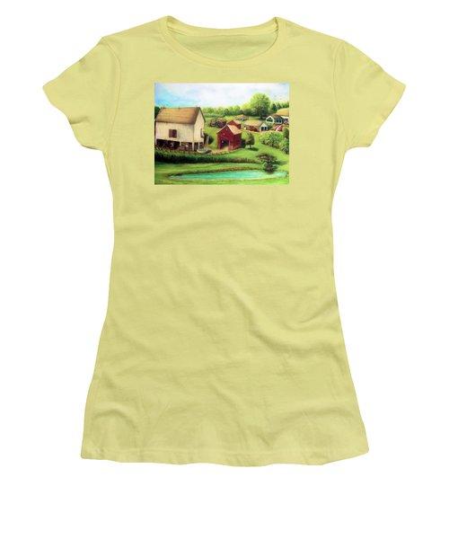 Farm Women's T-Shirt (Junior Cut) by Bernadette Krupa