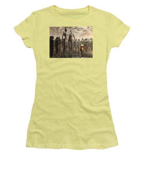 Women's T-Shirt (Junior Cut) featuring the digital art Fate Of The Dreamer by John Alexander