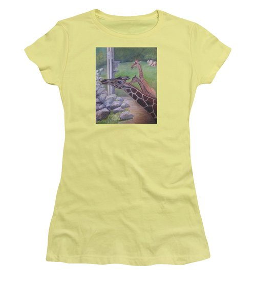 Feeding Time At The Jacksonville Zoo Women's T-Shirt (Athletic Fit)