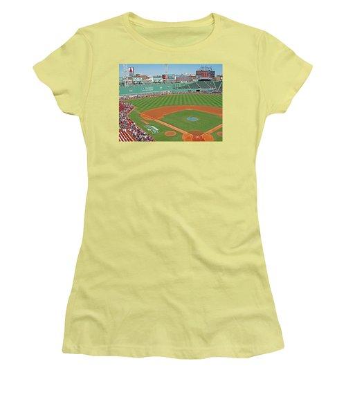 Fenway One Hundred Years Women's T-Shirt (Junior Cut) by Barbara McDevitt