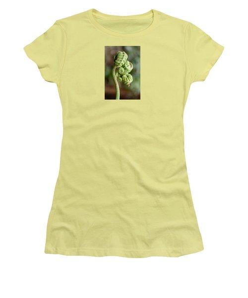 Fern Bud Women's T-Shirt (Junior Cut) by Venetia Featherstone-Witty