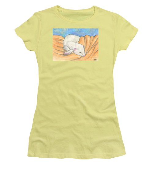 Ferret's Favorite Blanket Women's T-Shirt (Athletic Fit)