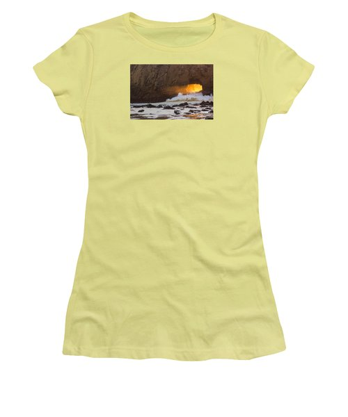 Fire In The Hole Women's T-Shirt (Junior Cut) by Suzanne Luft