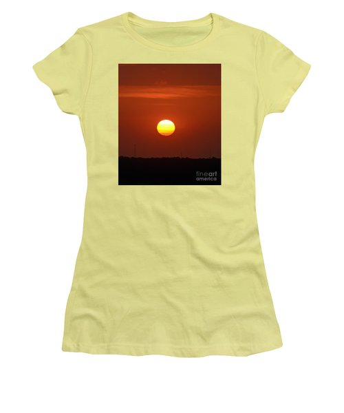 Women's T-Shirt (Junior Cut) featuring the photograph Fire In The Sky by Kerri Farley