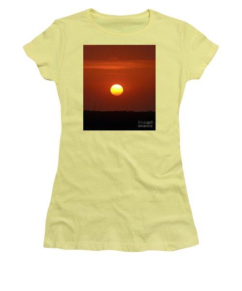 Fire In The Sky Women's T-Shirt (Junior Cut) by Kerri Farley