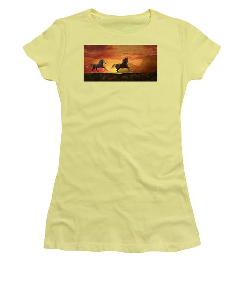 Fire Sky Women's T-Shirt (Athletic Fit)