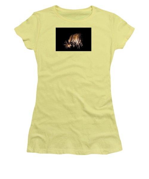 Women's T-Shirt (Junior Cut) featuring the photograph Fireworks 1 by Susan  McMenamin