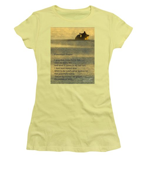 Fisherman's Prayer Women's T-Shirt (Athletic Fit)