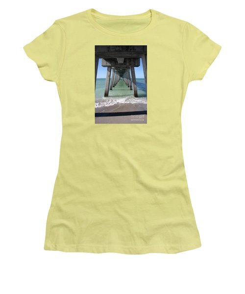 Fishing Pier Architecture Women's T-Shirt (Athletic Fit)