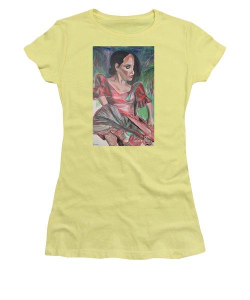 Flamenco Solo Women's T-Shirt (Junior Cut) by Ecinja Art Works