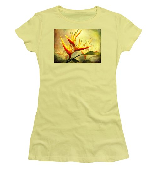 Flames Of Paradise Women's T-Shirt (Junior Cut) by Ellen Cotton