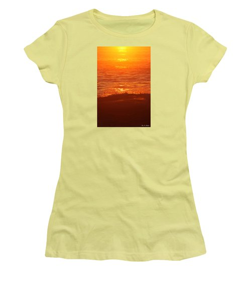 Flames With No Horizon Women's T-Shirt (Junior Cut) by Amy Gallagher
