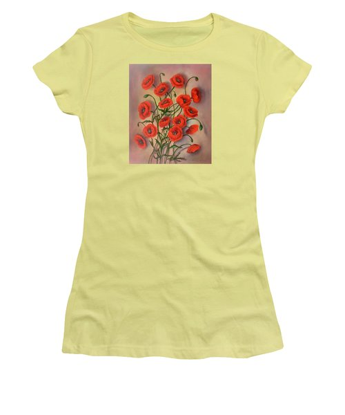 Flander's Poppies Women's T-Shirt (Athletic Fit)