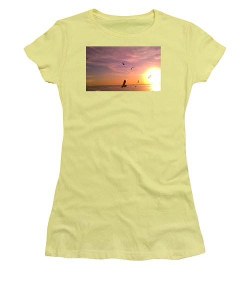 Flight Into The Light Women's T-Shirt (Athletic Fit)