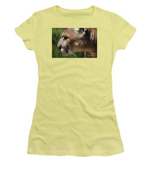 Women's T-Shirt (Junior Cut) featuring the photograph Florida Panther Profile by Meg Rousher
