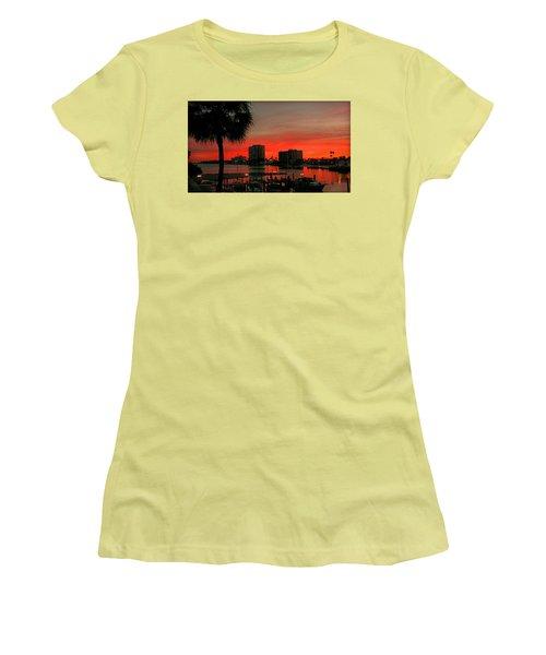 Women's T-Shirt (Junior Cut) featuring the photograph Florida Sunset by Hanny Heim