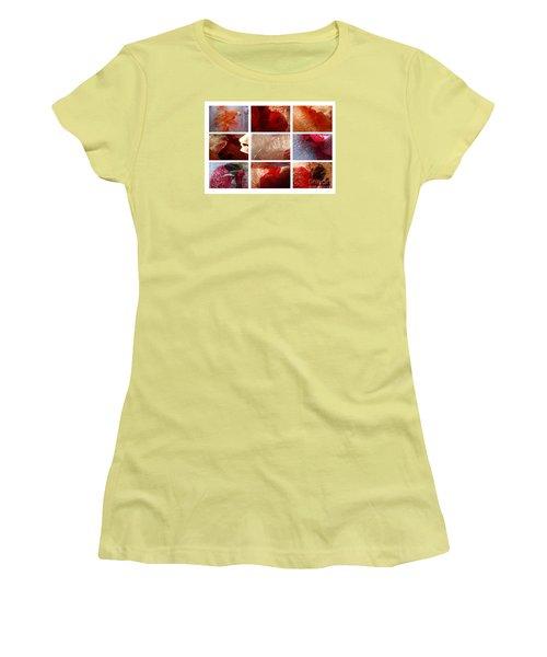 Flower Collage Horisontal Women's T-Shirt (Junior Cut) by Randi Grace Nilsberg
