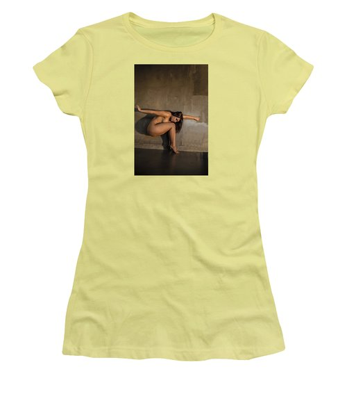 Women's T-Shirt (Junior Cut) featuring the photograph Flower In The Wall by Mez