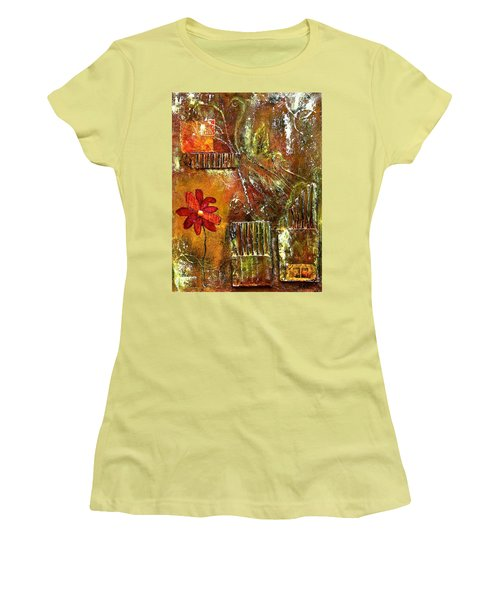 Flowers Grow Anywhere Women's T-Shirt (Athletic Fit)