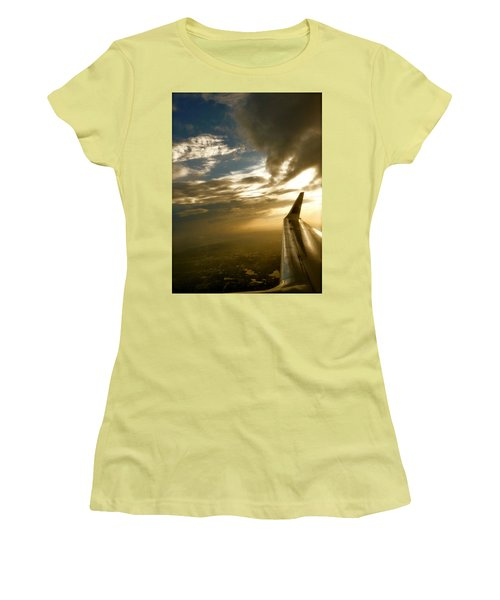 Flying Clouds By David Pucciarelli Women's T-Shirt (Junior Cut) by Iconic Images Art Gallery David Pucciarelli