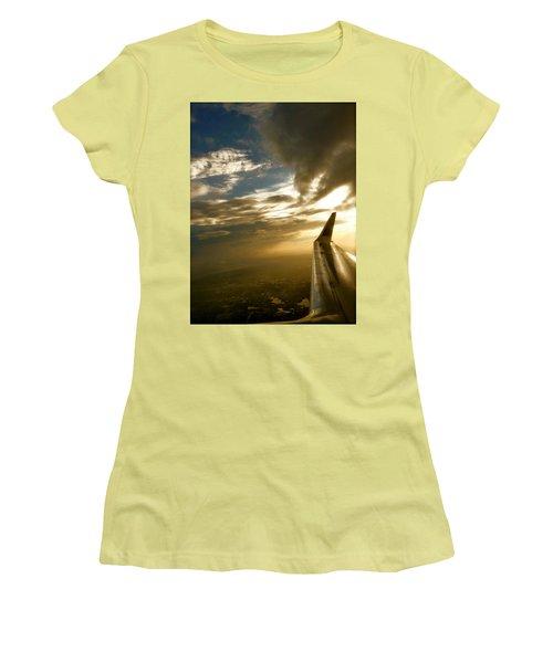 Flying Clouds By David Pucciarelli Women's T-Shirt (Junior Cut)