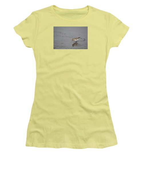 Women's T-Shirt (Junior Cut) featuring the photograph Footsteps by James Petersen