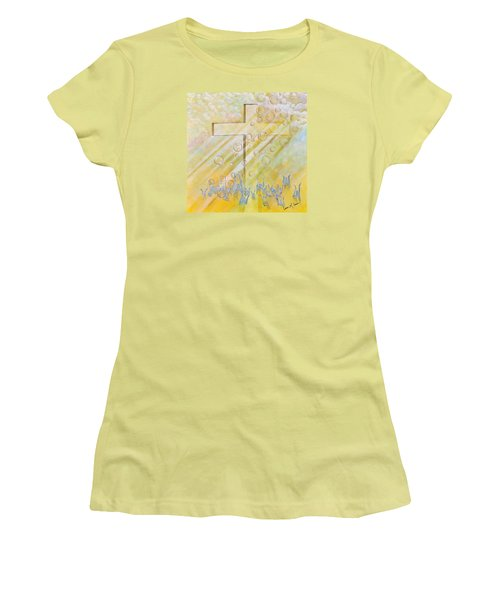 Women's T-Shirt (Junior Cut) featuring the painting For The Cross by Cassie Sears
