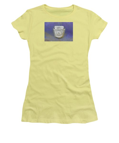 Ford Emblem Women's T-Shirt (Junior Cut) by Laurie Perry