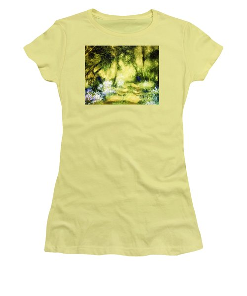 Forest Bluebells Women's T-Shirt (Athletic Fit)