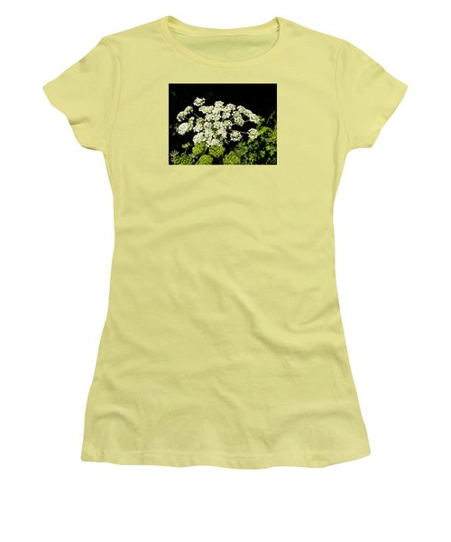 Women's T-Shirt (Junior Cut) featuring the photograph Forest Lace by VLee Watson