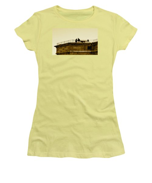 Fort Delaware Cleaning Crew Women's T-Shirt (Athletic Fit)