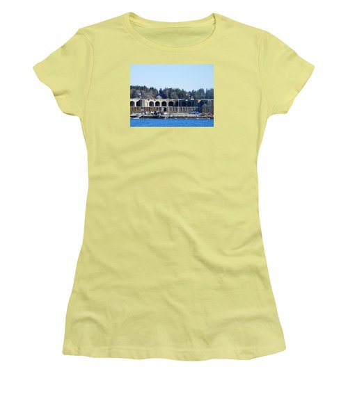 Fort Popham In Maine Women's T-Shirt (Junior Cut) by Catherine Gagne