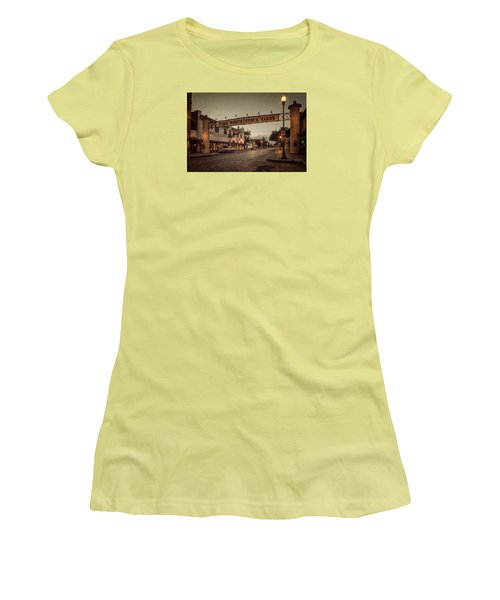 Fort Worth Stockyards Women's T-Shirt (Athletic Fit)