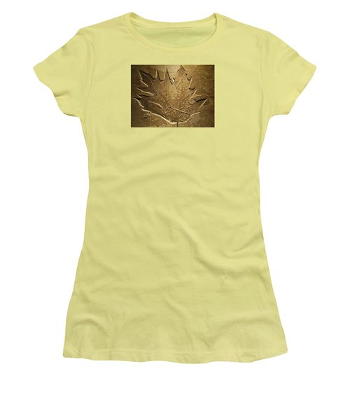 Fossilized Maple Leaf Women's T-Shirt (Athletic Fit)