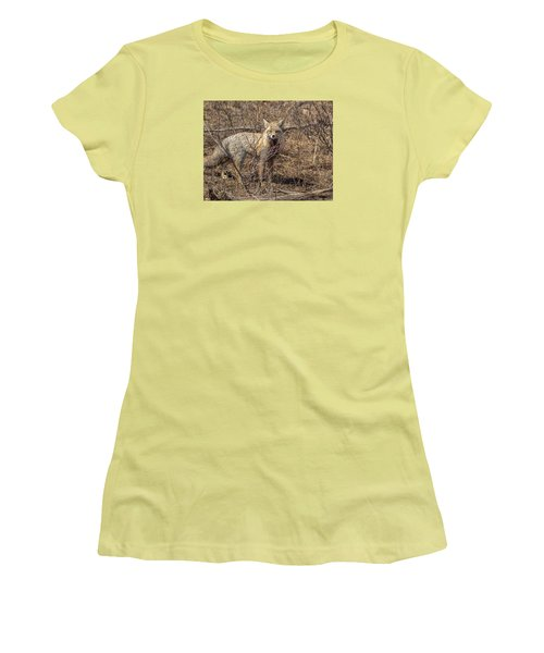Foxy In Disguise Women's T-Shirt (Junior Cut) by Yeates Photography