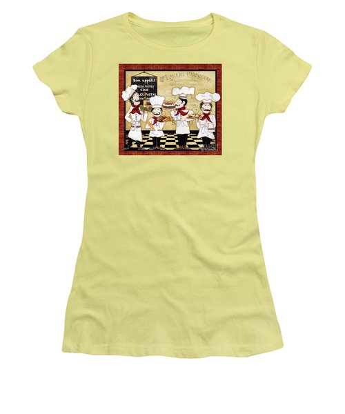 French Chefs-bon Appetit Women's T-Shirt (Junior Cut)
