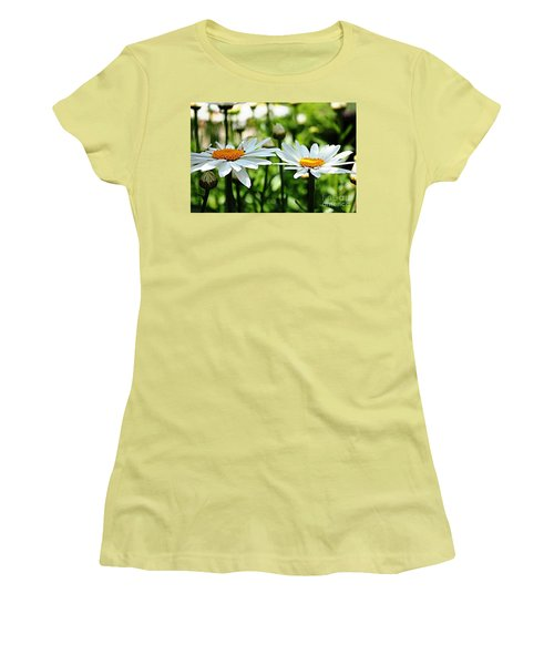 Women's T-Shirt (Junior Cut) featuring the photograph Fresh As A Daisy by Judy Palkimas