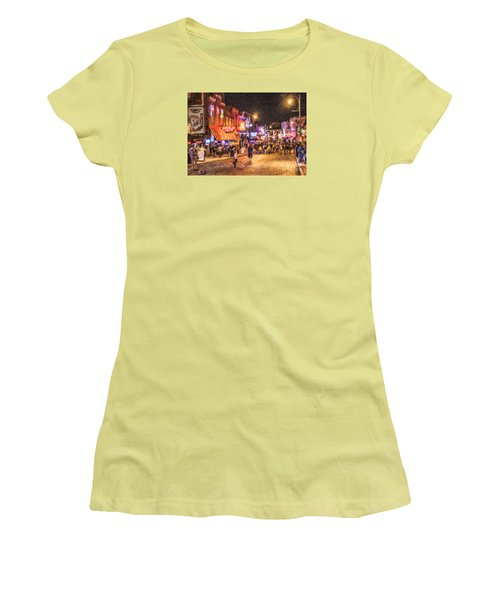 Friday Night On Beale Women's T-Shirt (Athletic Fit)